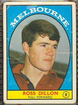 1968 Scanlen's Gum Australian Football - Series A, Ross Dillon trade card