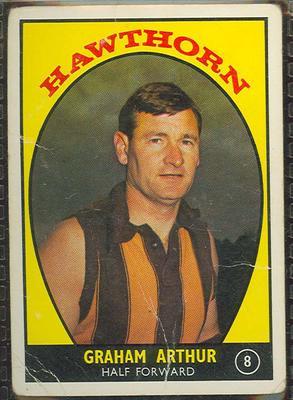1968 Scanlen's Gum Australian Football - Series A, Graham Arthur trade card
