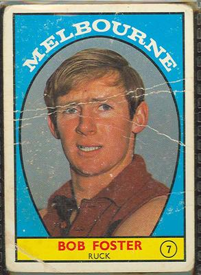 1968 Scanlen's Gum Australian Football - Series A, Rob Foster trade card; Documents and books; 1987.1811.108