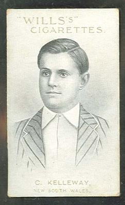 1911 W D & H O Wills Australian and English Cricketers C Kelleway trade card