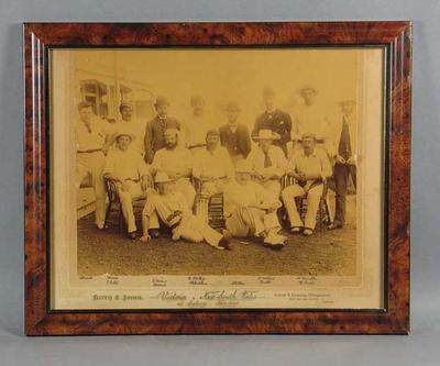 Photograph, Victoria v New South Wales - 1891