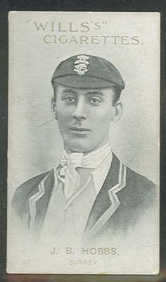 1911 W D & H O Wills Australian and English Cricketers J B Hobbs trade card
