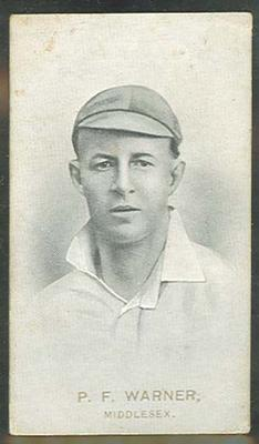 1911 W D & H O Wills Australian and English Cricketers P F Warner trade card