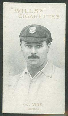 1911 W D & H O Wills Australian and English Cricketers J Vine trade card