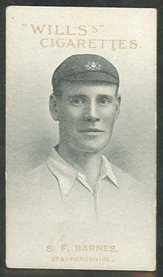 1911 W D & H O Wills Australian and English Cricketers S F Barnes trade card; Documents and books; M11865.34