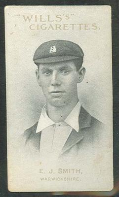 1911 W D & H O Wills Australian and English Cricketers E J Smith trade card