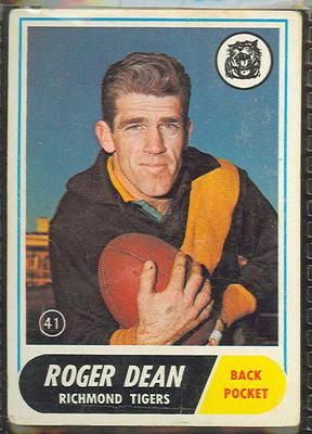1969 Scanlen's Gum Australian Football, Roger Dean trade card