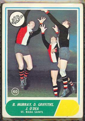 1969 Scanlen's Gum Australian Football, St Kilda FC trade card; Documents and books; 1987.1811.123