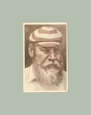 1947 Stamina Clothing Co An Ideal Cricket Eleven Dr W G Grace trade card; Documents and books; M11768.1