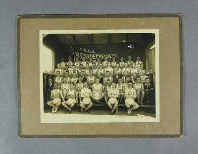 Photograph of Footscray Harrier Club, VAAA B Grade Premiers; Photography; Artwork; 1994.3095.59