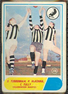 1969 Scanlen's Gum Australian Football, Collingwood FC trade card