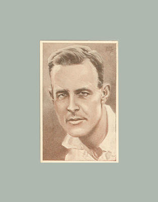 1947 Stamina Clothing Co An Ideal Cricket Eleven V Trumper trade card