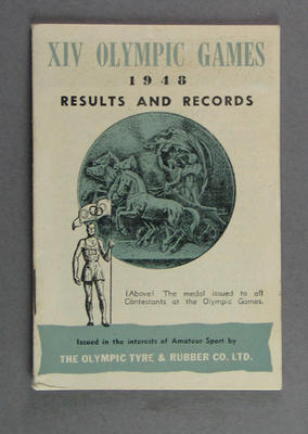 Booklet, Olympic Games 1948 Results & Records