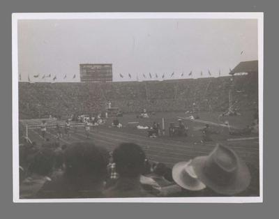 Photograph of track event, 1948 Olympic Games