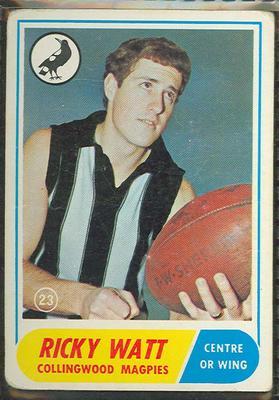 1969 Scanlen's Gum Australian Football, Ricky Watt trade card
