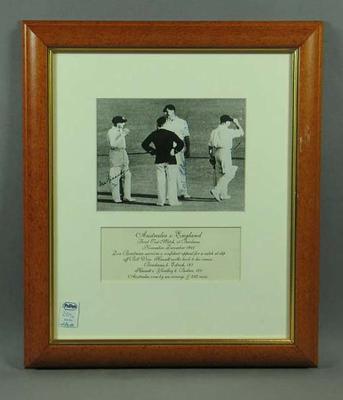 Photograph, Australia v England Test match - Brisbane, 1946