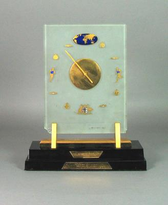 Clock, presented by Academie des Sports Prix du President to Ron Clarke in 1966