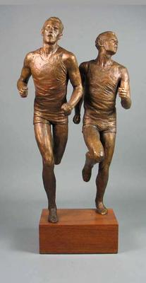 Bronze statuette of John Landy and Roger Bannister, Vth British Empire & Commonwealth Games, 1954