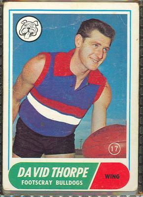 1969 Scanlen's Gum Australian Football, David Thorpe trade card