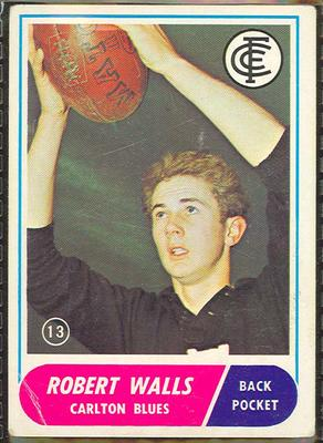 1969 Scanlen's Gum Australian Football, Robert Walls trade card