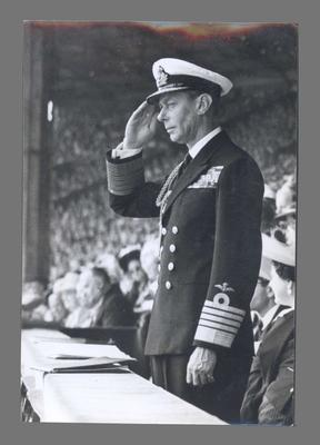 Photograph of King George VI, 1948 Olympic Games