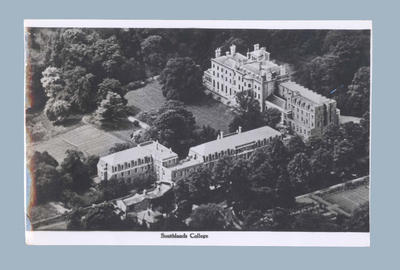 Postcard depicting Southlands College, c1948