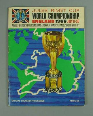 Programme, Jules Rimet Cup World Championship - England, July 11-30 1966