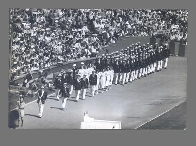 Photograph of Australian team to Opening Ceremony, 1948 Olympic Games; Photography; 2003.3903.271