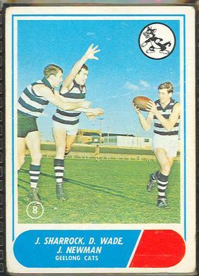 1969 Scanlen's Gum Australian Football, Geelong FC trade card; Documents and books; 1987.1811.155