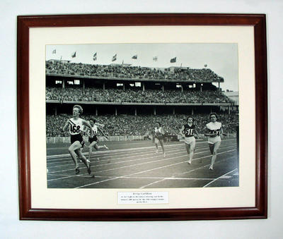 Reproduction photograph - Betty Cuthbert in women's 200 mtr 1956 Melbourne Olympic Games