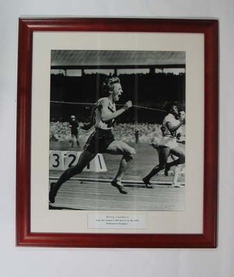 Reproduction photograph - Betty Cuthbert winning women's 200 mtr 1956 Olympic Games