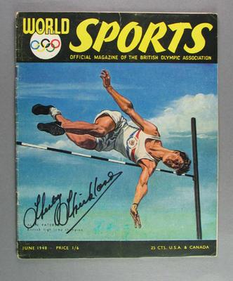 "Magazine, ""World Sports"" June 1948"