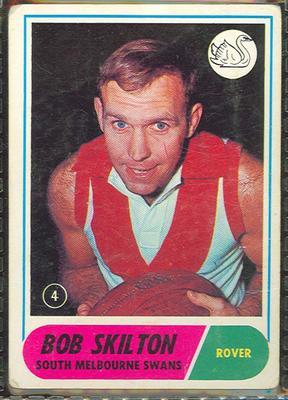 1969 Scanlen's Gum Australian Football, Bob Skilton trade card