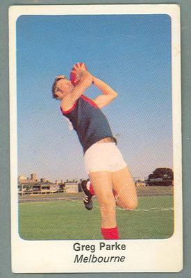 1971 Sunicrust Australian Football, Greg Parke trade card