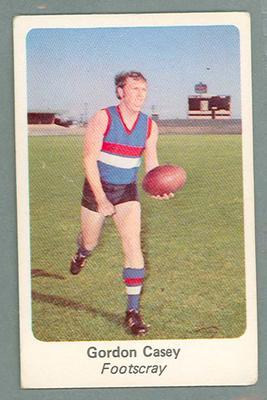 1971 Sunicrust Australian Football, Gordon Casey trade card
