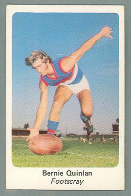 1971 Sunicrust Australian Football, Bernie Quinlan trade card