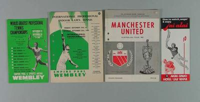 Various sporting programmes and booklets, c1960s