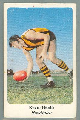 1971 Sunicrust Australian Football, Kevin Heath trade card