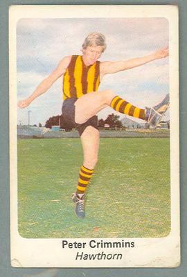 1971 Sunicrust Australian Football, Peter Crimmins trade card