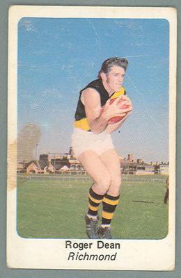 1971 Sunicrust Australian Football, Roger Dean trade card
