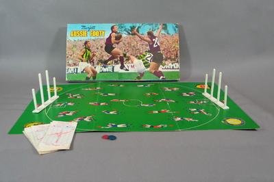 "Board game, ""Aussie Footy"" produced by Murfett"