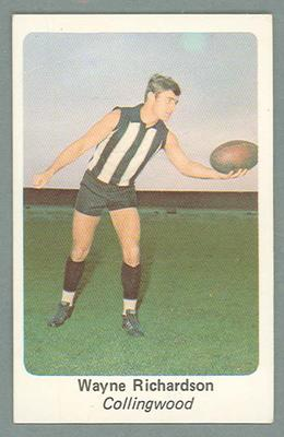 1971 Sunicrust Australian Football, Wayne Richardson trade card
