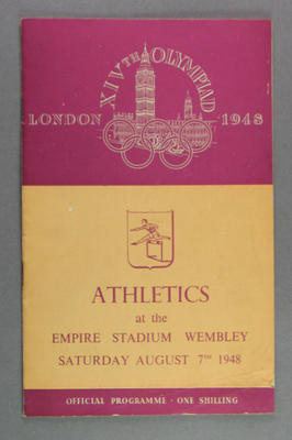Programme for athletic events at 1948 Olympic Games, 7 August