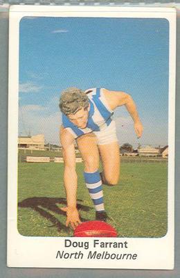 1971 Sunicrust Australian Football, Doug Farrant trade card