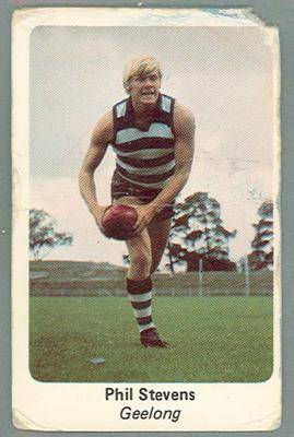 1971 Sunicrust Australian Football, Phil Stevens trade card