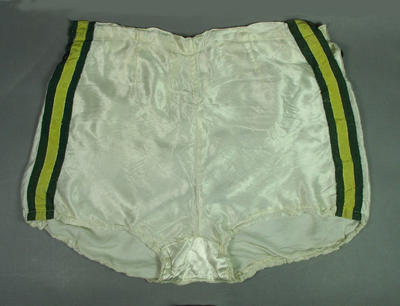Pair of athletic shorts worn by Shirley Strickland, 1948 Olympic Games