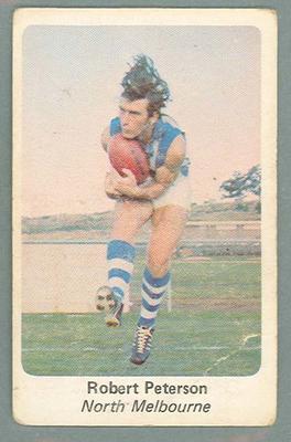 1971 Sunicrust Australian Football, Robert Peterson trade card