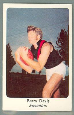 1971 Sunicrust Australian Football, Barry Davis trade card