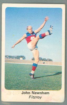 1971 Sunicrust Australian Football, John Newnham trade card