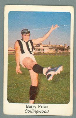 1971 Sunicrust Australian Football, Barry Price trade card